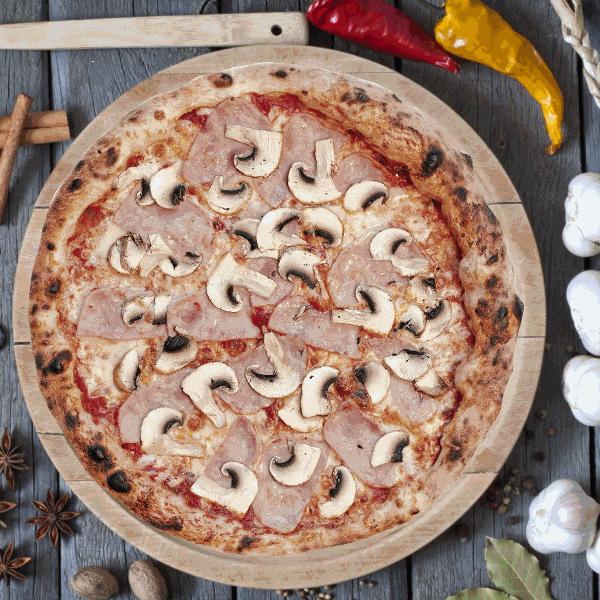 Пицца Ветчина с грибами